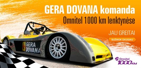 "GERA DOVANA komanda jau pasiruošusi ""Omnitel 1000 km lenktynėms"""
