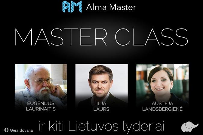 """""""MasterClass"""" du seminarai"""
