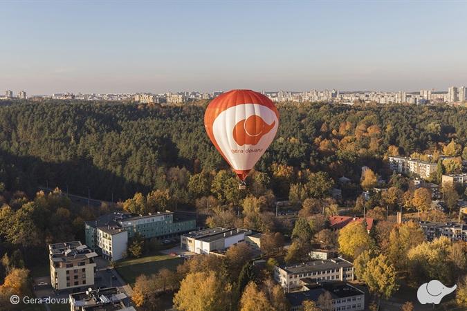 Privatus skrydis oro balionu tik DVIEM