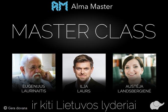 """MasterClass"" trys seminarai"