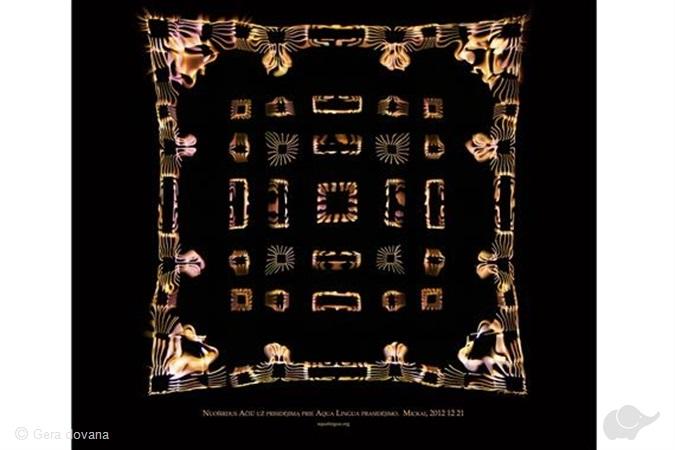 Unikalus paveikslas pagal garso vibracijas
