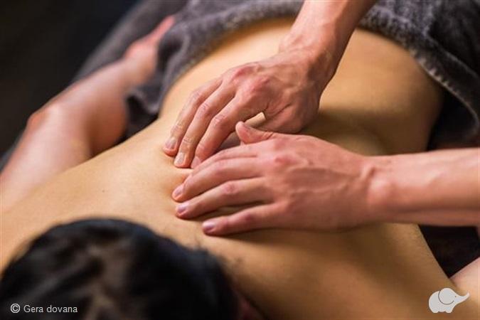 Gintarinis nugaros masažas