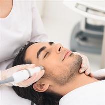 Veido odos valymas ultragarsu vyrams